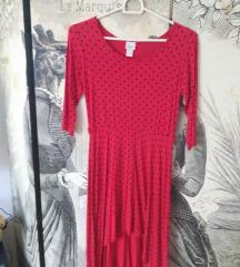 Piros pöttyös ruha 34/xs