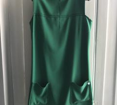 Zöld elegáns zsebes ruha