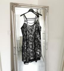 Csillámló ruha L
