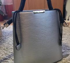 ezüst táska metal