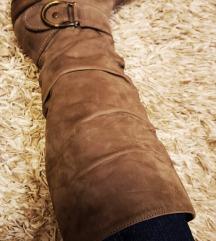 Barna bőr csizma nagyon kényelmes 38-38.5-es méret