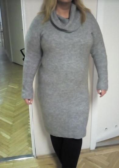 Szürke pulóverruha 46-48-50es
