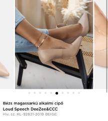 ÚJ DeeZee magassarkú alkalmi cipő (39)