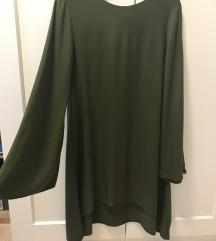 Khaki színű Nana's Everly ruha nagyobb XS méretben