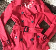 Piros vallon kabát
