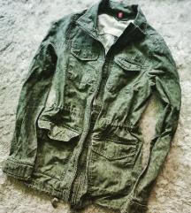Katonazöld H&M parka kabát