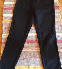Fekete vászon bő nadrág