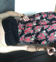 Stradivarius S/XS/34/36 virágos ruha