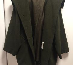 Eredeti Max Mara olajzöld gyapjú kabát