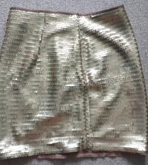 Arany flitteres H&M szoknya