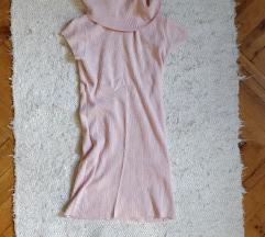 Gallér nyakú rózsaszín tunika