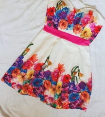 Virágos alkalmi ruha