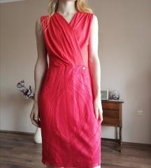 Piros átlapolt ruha Amnesia