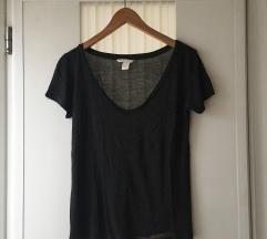 H&M sötétszürke basic póló