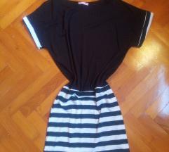 Fekete-fehér tunika/ruha S/M