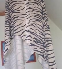 Tigris mintás asszimetrikus szexi ruha