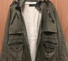 Zöld téli kabát