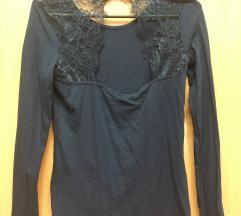 Új H&M csipkés hátú kék felső