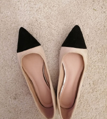 Nude fekete balerina cipő