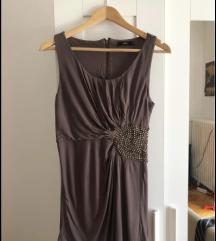 Khaki színű 38-as térd fölé erő elegáns ruha