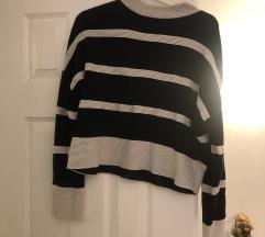 csikos félgarbó pulóver