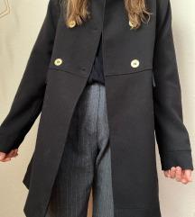 H&M fekete kabát 42
