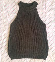 Mango címkés kötött khaki halter top