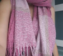 Rózsaszín, szuper meleg sál