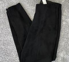 Zara basic velúr hatású, gumis derekú nadrág