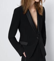 Új Zara tuxedo fekete blézer zakó
