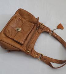 Sokzsebes barna BŐR táska 🦁