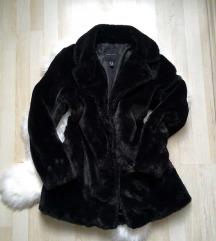 Faux fur fekete bunda műszőrme