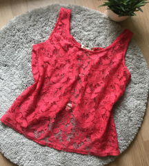 Pink csipke top S/M