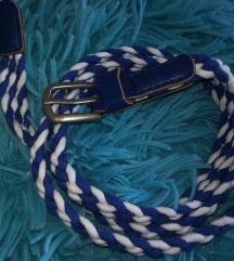 Kék csíkos öv - 90cm
