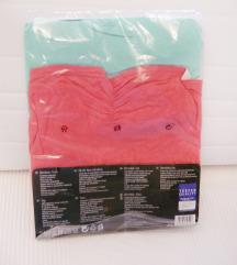 ✿ 2db Címkés fagyi menta&pink pamut csőtop S/M