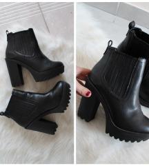 New Look platformos bőr bokacsizma
