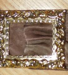 Csodás bronz sz. selyem öv alkalmi áron
