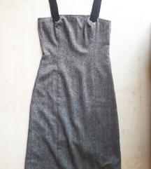 Szürke, pántos ruha, XS/S