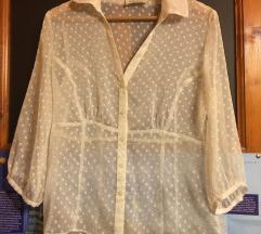 Átlátszós fehér ing