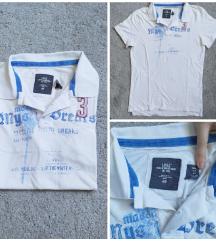Fehér-kék H&M férfi rövid ujjú felső (M)