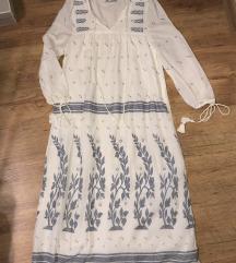 Zara embroidered hímzett maxi ruha