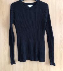 Fekete bordázott  pulcsi