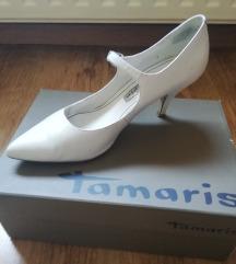 Fehér Tamaris magassarkú cipő