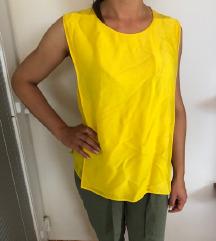 Stella McCartney citromsárga nyári top, ujjatlan