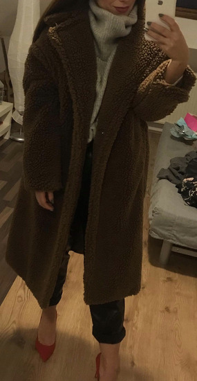 MANGO teddy coat