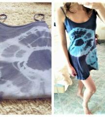 Kék pántos nyári ruha (S-M)