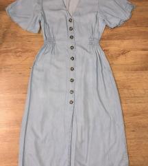 Zara világoskék maxi ruha