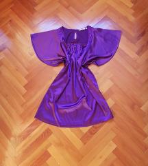 New Look lila szatén blúz 38/40