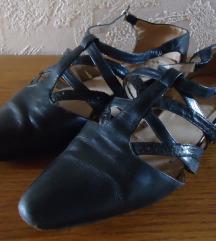 Kék, bőr átmeneti cipő, 35-ös méret