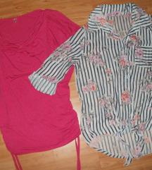 M virágmintás megkötős ing